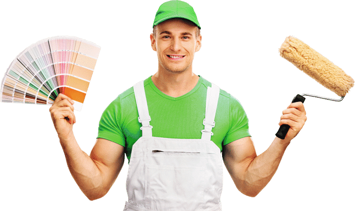 North Brisbane commercial painting contractor holding painting tools